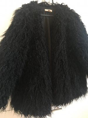 H&M Fake Fur Jacket black