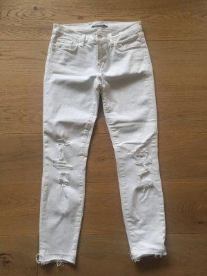 Lässige JBRAND Jeans in weiß mit Rissen