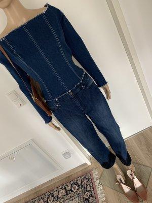 Escada Pantalón de cinco bolsillos azul oscuro Algodón