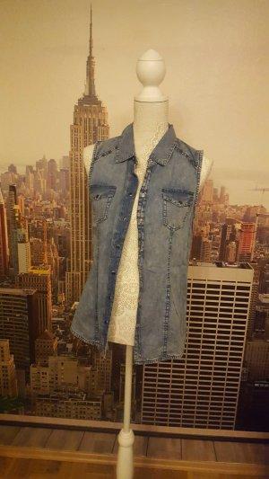 Lässige Jeansbluse ohne Ärmel
