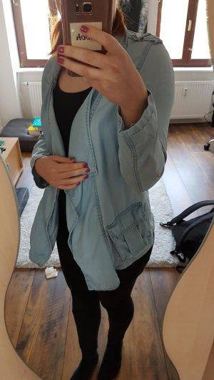 Pimkie Blouse en jean bleu clair-bleu azur
