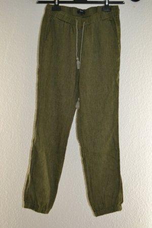Lässige Khaki Olivgrün Stoffhose mit Band zum Schnüren von Madewell