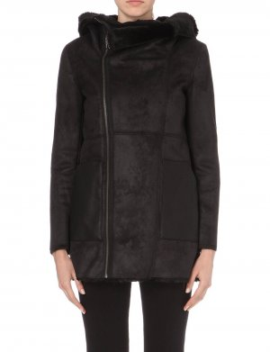 The Kooples Fake Fur Jacket black