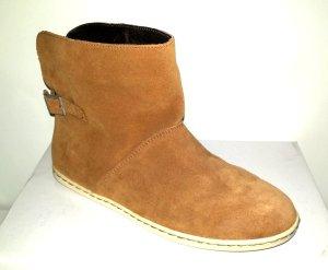 lässige Leder Chelsea Boots - Stiefelette braun von Zign - Gr. 38