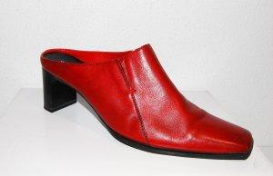Lässige Leder Pantolette - Clog - rot von Tamaris Gr. 39