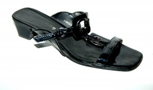 Lässige Leder Pantolette - Clog - schwarz von Comma Gr. 41