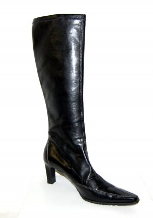 lässige Leder Stiefel - schwarz  von Paul Green - Gr. 42