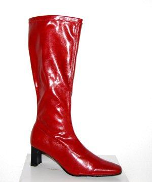 Lässige Lederstiefel in rot von Donna Christina GR.40