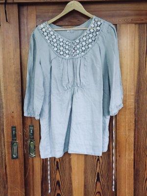 Blusa in lino grigio chiaro