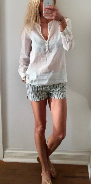 Zara Basic Blouse en lin blanc lin