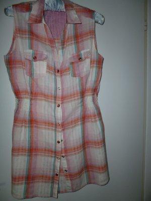 Lässige Long-Bluse: -ONLY-100% angenehme Baumwolle, modisches Karomuster Gr 36/38 Marke: ONLY