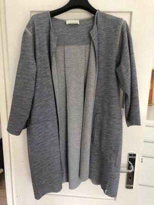 81hours Cappotto grigio chiaro-blu scuro Cotone