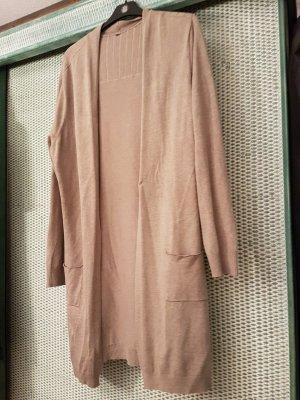 Chaleco de punto largo color bronce-marrón grisáceo