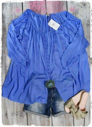 Robe tunique bleuet coton