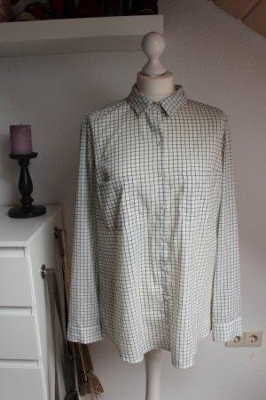 Lässige oversized Bluse kariert schwarz weiß Damen Pimkie Größe L M S Blogger Fa