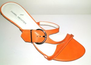 lässige Pantolette - Clog in orange von Daniel Hechter Gr. 41