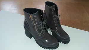 Lässige Schnür-Boots - Absatz - Liu Jo - Grau-Schwarz