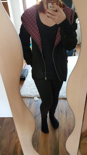 Lesara Oversized Jacket black-dark red