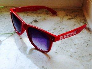 Gafas de sol rojo-negro Material sintético