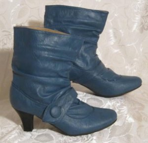 Kayla Slouch Booties blue
