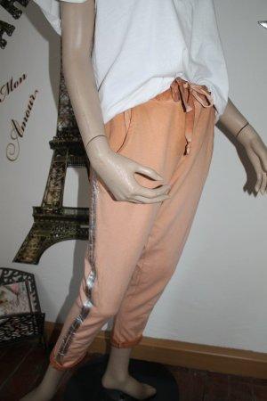 lässige Sweat - Pant * silberne Streifen * One Size * passt S bis L * einmal getragen *