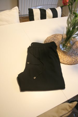 Mango Trousers black polyester