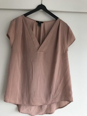 Lässige V-Ausschnitt-Bluse