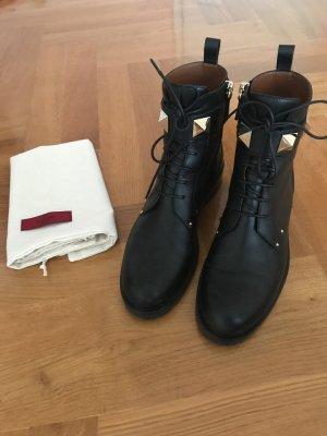 Valentino Bottillons noir-doré cuir