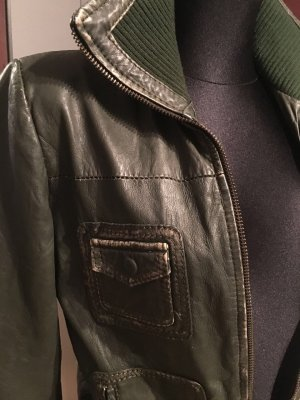 Lässige Vintage Lederjacke