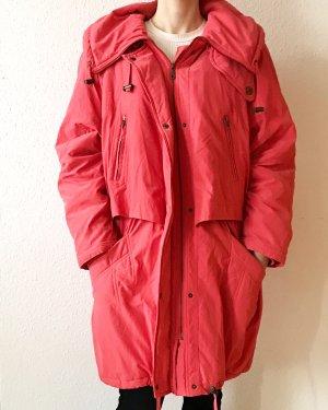 Lässige, vintage oversized Jacke/ Mantel mit Kapuze