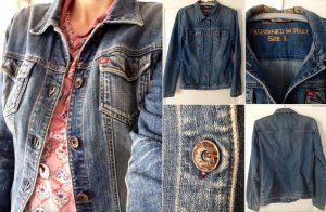 Lässige Washed Vintage-Style Jeansjacke von Miss Sixty