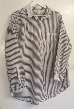 Lässige weiß-schwarz gestreifte Bluse von H&M Größe 40