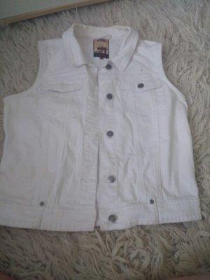 lässige weiße jeans weste
