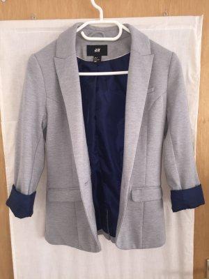 H&M Blazer stile Boyfriend grigio chiaro-blu scuro