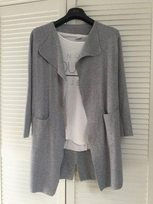 Giacca in maglia grigio chiaro-argento