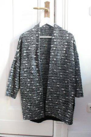 Lässiger Cardigan Jacke von Opus schwarz weiß Gr. S