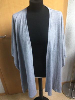 Noisy May Gilet long tricoté gris clair