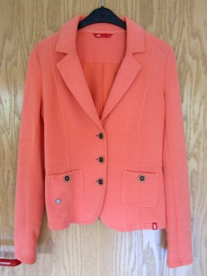 Edc Esprit Jersey Blazer naranja claro-naranja tejido mezclado