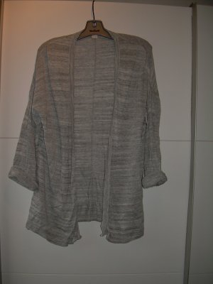 lässiger grau melierter Oversize Cardigan von H&M Gr. L 40-44
