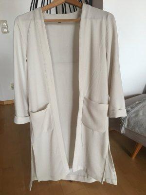 Lässiger, leichter Long-Mantel, hellbeige-grau, Gr. 36