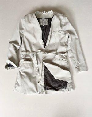 Penn & Ink Blazer boyfriend beige clair-gris anthracite coton