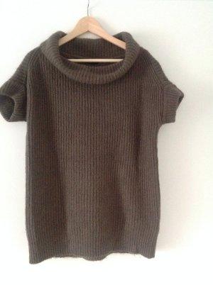 Zara Pull long gris brun laine