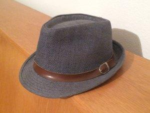 Cappello parasole grigio ardesia-marrone
