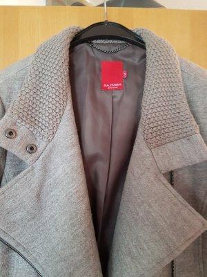 lässiger Mantel aus Strickwollstoff # D 42/D44 # Sa.hara