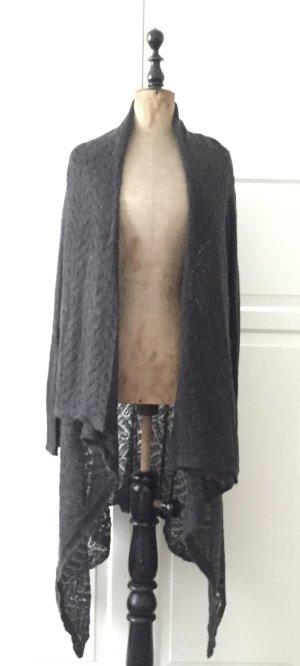Lässiger Mohair Strickmantel in einem schönen graubraun