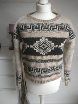 Lässiger ONLY Pullover Strickpulli Größe S 36 38 Damen Blogger braun neuwertig