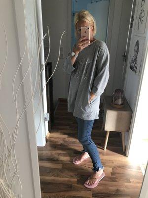 Jersey largo color plata-gris claro Algodón