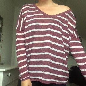 Lässiger Pullover Streifen