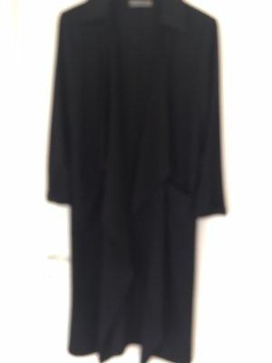 Lässiger schwarzer langer Mantel aus Italien