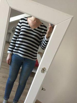 Lässiger Streifen-Pullover